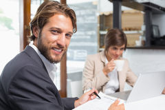 Business colleagues working on their break Stock Photography