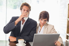 Business colleagues working on their break Royalty Free Stock Photography
