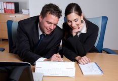 Business colleagues working together Royalty Free Stock Photo