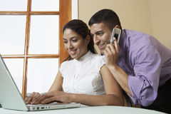 Business Colleagues Working Together Stock Photography