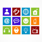 Business collection icon web  button Royalty Free Stock Images