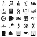 Business college icons set, simple style. Business college icons set. Simple set of 25 business college icons for web isolated on white background Royalty Free Stock Photography