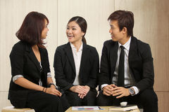 Business colleges having a meeting Royalty Free Stock Image