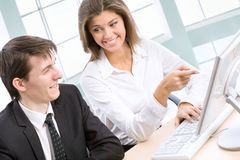 Business collegues Royalty Free Stock Photos