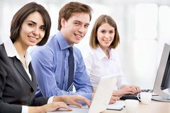Business collegues. Young business collegues working in the office Royalty Free Stock Photos