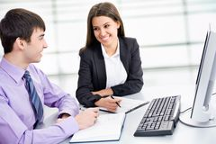 Business collegues. Young business collegues working in the office Royalty Free Stock Images