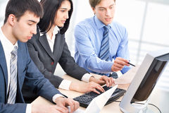 Business collegues. Young business collegues working in the office Royalty Free Stock Photo