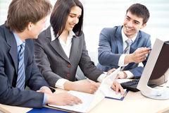 Business collegues. Young business collegues working in the office Stock Images