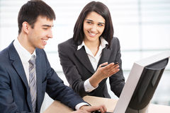 Business collegues. Young business collegues working in the office Royalty Free Stock Image