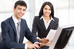 Business collegues. Young business collegues working in the office Royalty Free Stock Photography