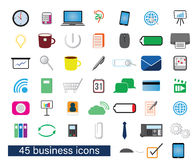 Business color cliparts Royalty Free Stock Images