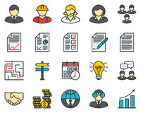 Business Colored Icons Stock Photo