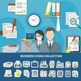 Business Items Icon Set Stock Photo