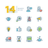 Business - colored modern single line icons set Stock Image