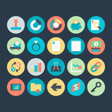Business Colored Vector Icons 7. Here is useful and trendy Business icons set. Hope you can find a great use for them in finance, money, banking, and statistics Royalty Free Stock Photos
