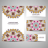 Business colorful card template. Vector illustration in native style Stock Photography