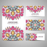 Business colorful card template. Vector illustration in native style Royalty Free Stock Photos