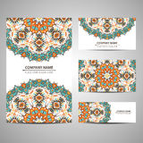 Business colorful card template. Vector illustration in native style Stock Photos