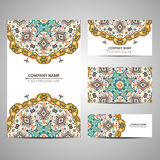 Business colorful card template. Vector illustration in native style Royalty Free Stock Photo