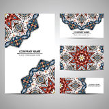 Business colorful card template. Vector illustration in native style Stock Image