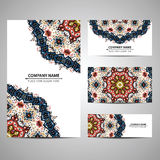 Business colorful card template. Vector illustration in native style Royalty Free Stock Images