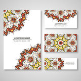 Business colorful card template. Vector illustration in native style Stock Images