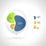Business colorful diagram in the flowing forms. Business presentation concept Royalty Free Stock Image