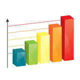 Business colorful graph Stock Photos