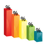 Business colorful graph Royalty Free Stock Photos
