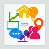 Business colorful icons. Vector design Royalty Free Illustration