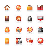 Business Colorful Icons Stock Image