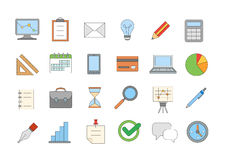 Business colorful icons set Stock Photo