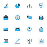 Business Colorful Icons Set. Collection Of Badge, Bank Card. Pie Chart And Other Elements Stock Images