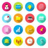 Business Colorful icons. Vector illustration Royalty Free Illustration
