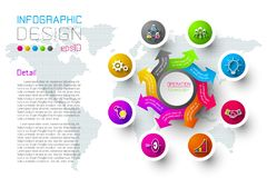 Business colorful labels shape infographic circles bar. Business colorful labels shape infographic circles bar on vector graphic art stock illustration