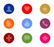 Business Colorful Round Icon Set Stock Image
