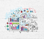 Business colorful sketch Stock Photos