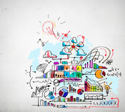 Business colorful sketch Stock Photography