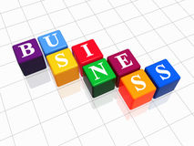 Business in colour 2. 3d colour boxes with text - business, word Stock Photo