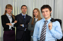 Business command. Group of successful managers Royalty Free Stock Photography