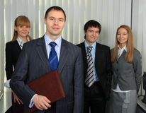 Business command. Royalty Free Stock Photos