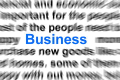 Business  and commerce concept Stock Images