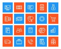 Business, commerce line icons set. Eps 10 file, easy to edit Stock Images