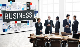 Business Commercial Corporate Enterprise Firm Concept. Business People Discuss Commercial Corporate Enterprise Royalty Free Stock Image