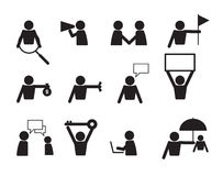 Business commercial people icon set vector Stock Image