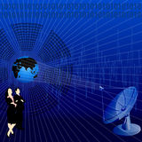 Business communication. Silhouette view of business communication Stock Photo