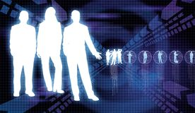 Business Communication 2. Business people showing global communication concept on dynamic background Stock Image