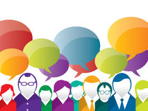 Speech bubble and business communication Royalty Free Stock Images