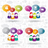 Speech bubble and business communication Royalty Free Stock Image