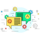 Business communication and dialogue concept Stock Photo